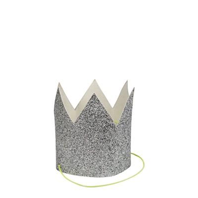 Meri Meri Mini Silver Glitter Crowns