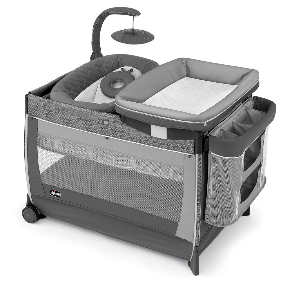 Image of Chicco Lullaby Glow Playard - Silhouette, Gray
