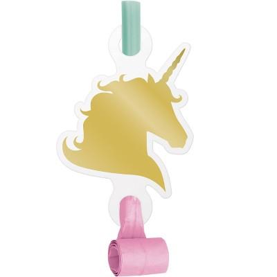 8ct Unicorn Sparkle Party Blowers