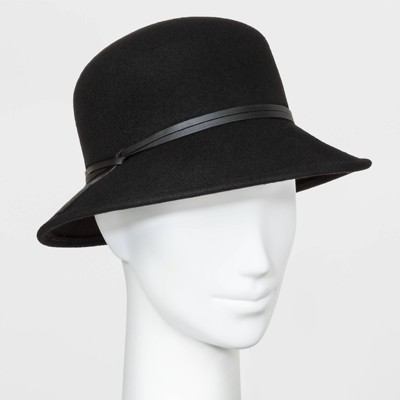Women's Cloche Hat - A New Day™ Black One Size