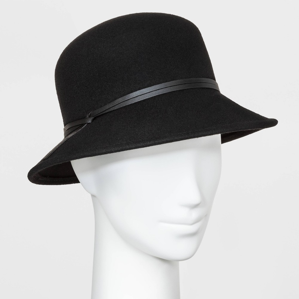 Women 39 S Cloche Hat A New Day 8482 Black One Size