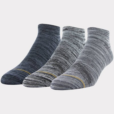 Signature Gold by GOLDTOE Men's 3pk Casual GT Free Feed No Show Socks - Gray