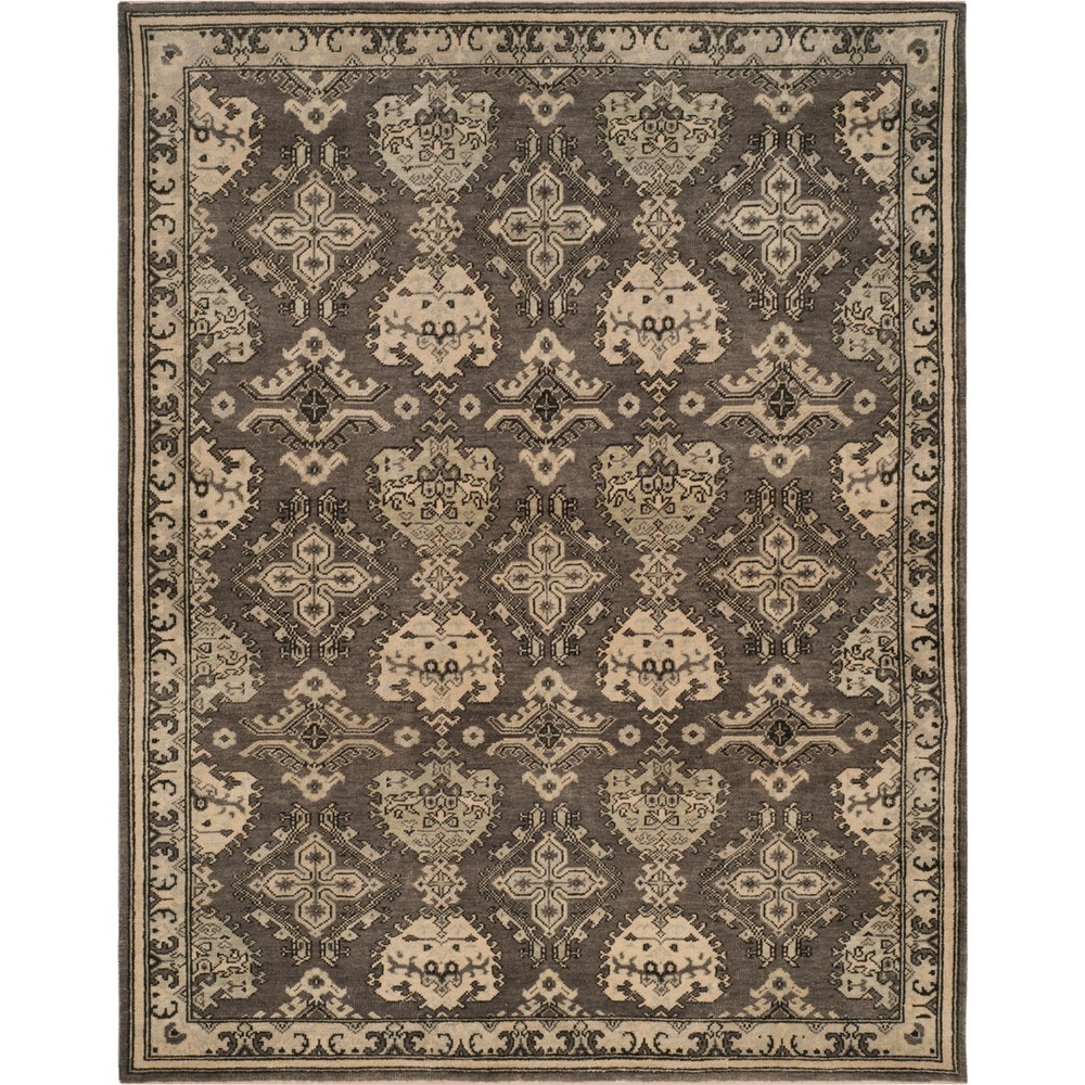 6'X9' Medallion Knotted Area Rug Gray - Safavieh