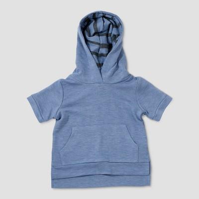 Baby Boys' Afton Street Short Sleeve Hoodie Sweatshirt - Blue 3-6M