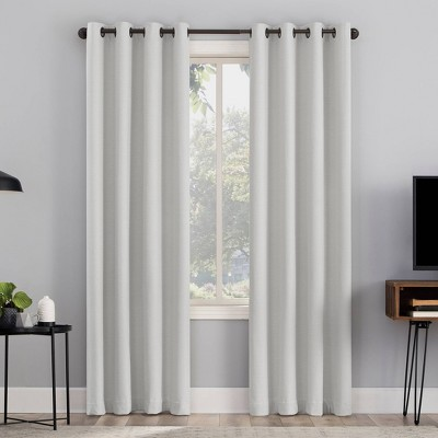 Channing Textured Draft Shield Fleece Insulated 100% Blackout Grommet Top Curtain Panel - Sun Zero