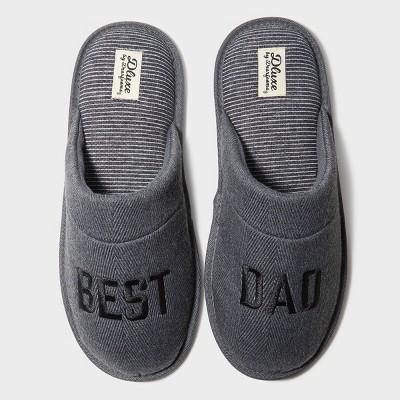 Men's dluxe by dearfoams Best Dad Slide Slippers - Gray