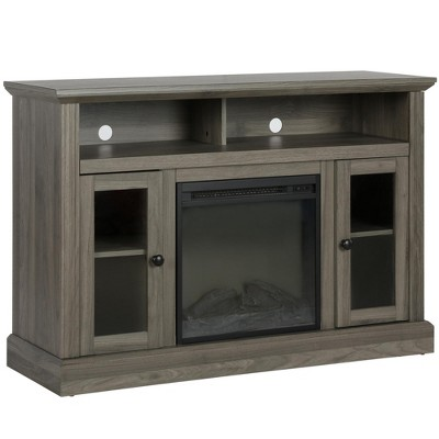 """50"""" Pinnacle Point Fireplace Tv Console Rustic Gray - Room & Joy"""