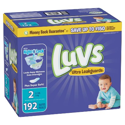 Luvs Disposable Diapers Giant Pack - Size 2 (192ct)