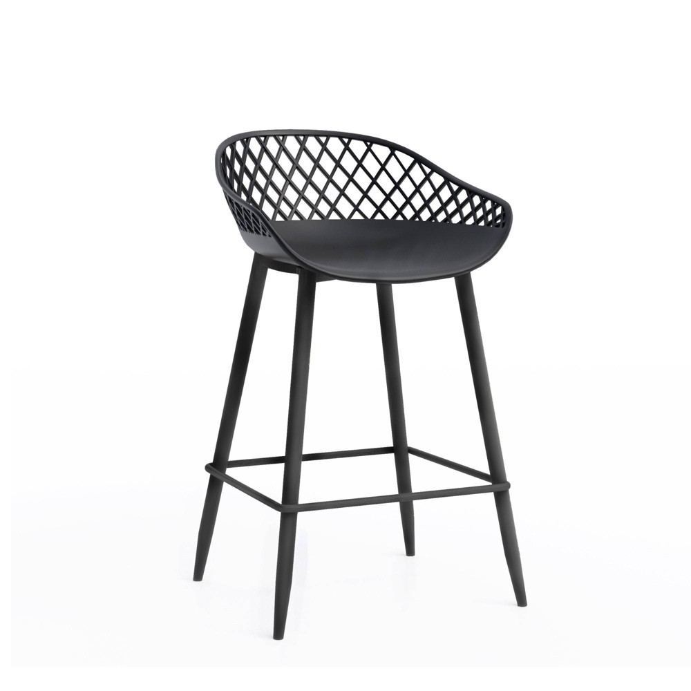 "Image of ""Set of 2 26"""" Kurv Counter Stool Black - Jamesdar"""