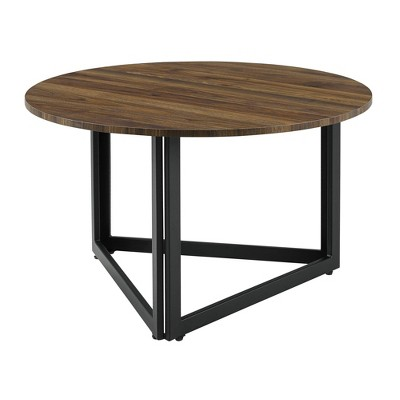 Modern Metal Base Round Coffee Table - Saracina Home
