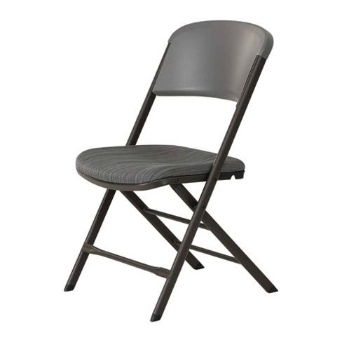 Remarkable 4Pk Padded Commercial Grade Folding Chair Gray Lifetime Pdpeps Interior Chair Design Pdpepsorg