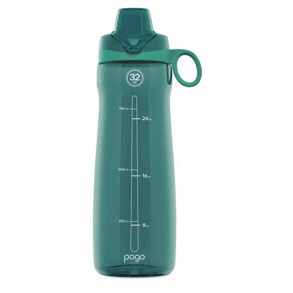 Pogo 32oz Tritan Chug Water Bottle - Teal (Blue)