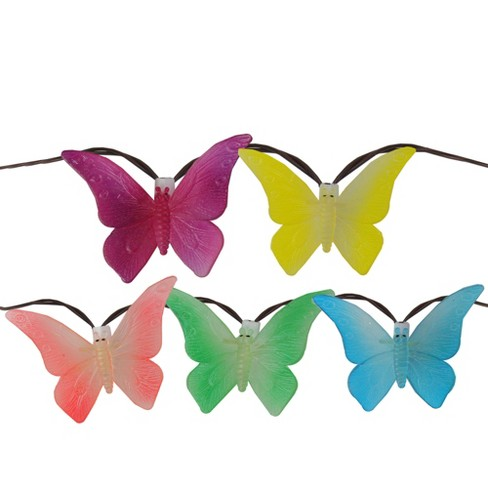 Northlight Set of 10 Red and Yellow Butterfly Patio Christmas Lights - 7.25' White Wire - image 1 of 1