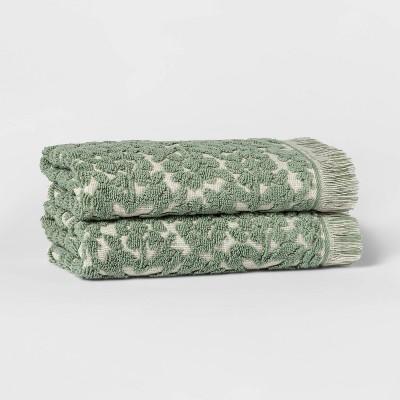 2pk Terry Plaid Hand Towel Set - Threshold™