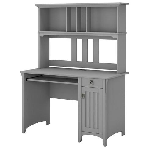 Salinas Computer Desk With Hutch Gray Bush Furniture