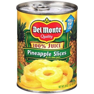 Del Monte Pineapple Slices in 100% Juice 20oz