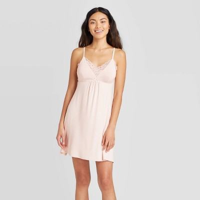 Women's Beautifully Soft Lace Trim Nightgown - Stars Above™ Soft Pink XL