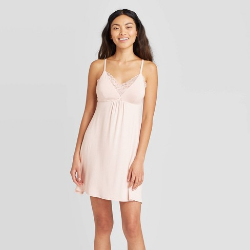 Women's Beautifully Soft Lace Trim Nightgown - Stars Above™ - image 1 of 2