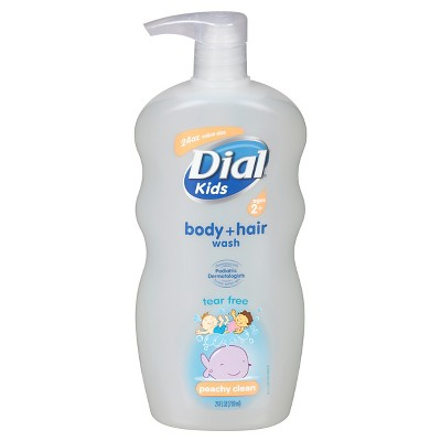 Dial Peach Body and Hair Wash for Kids - 24 oz