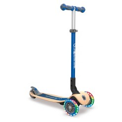 Globber Primo Foldable Wood Scooter - Navy Blue