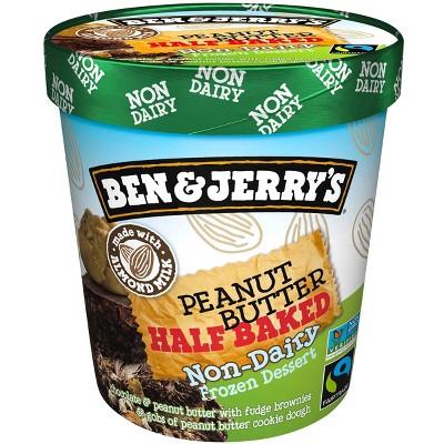 Ben & Jerry's Peanut Butter Half Baked Non-Dairy Ice Cream Frozen Dessert - 16oz