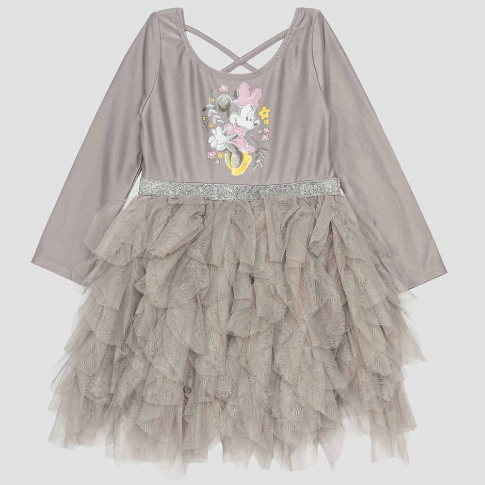 Toddler Girls' Minnie Mouse Tutu - Gray 4T