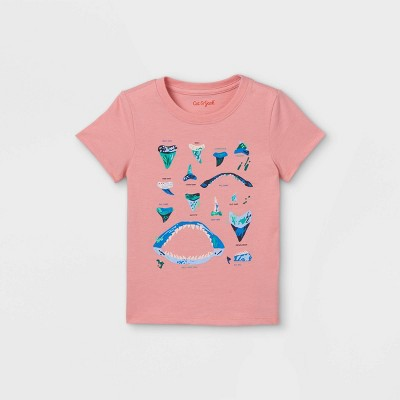 Toddler Boys' Shark Teeth Graphic Short Sleeve T-Shirt - Cat & Jack™ Pink