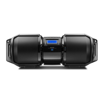 Sharp Portable Bluetooth Boom Box including Bass Boost with X-Bass (Apple and Android Compatible) - Black (GXBT9)