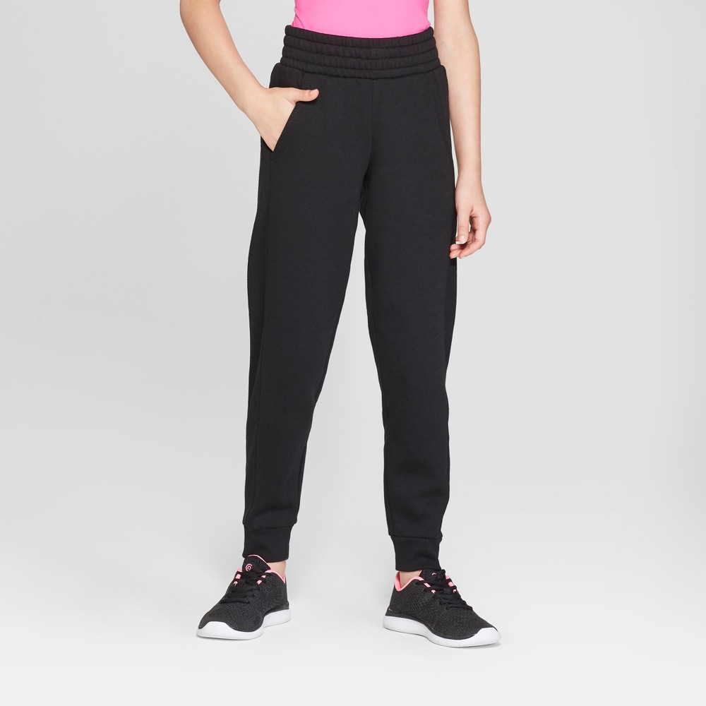 Girls' Cotton Fleece Jogger - C9 Champion Black S