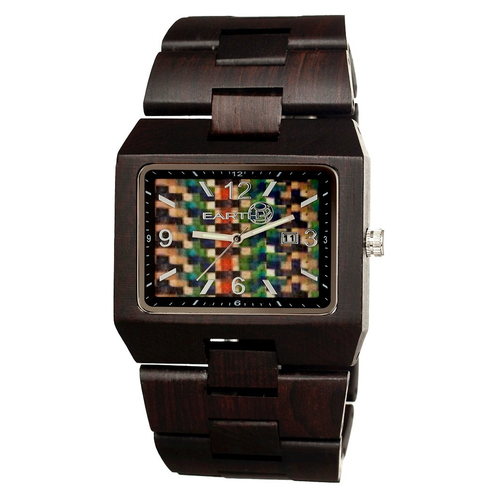 Men's Earth Rhizomes Wood Bracelet Watch with Date Display - Brown