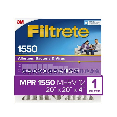 Filtrete Allergen Bacteria and Virus Air Filter 1550 MPR - image 1 of 4