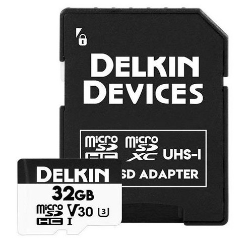 Delkin Advantage 660X 32GB UHS-I Class 10 U3 V30 microSDHC Memory Card - image 1 of 2
