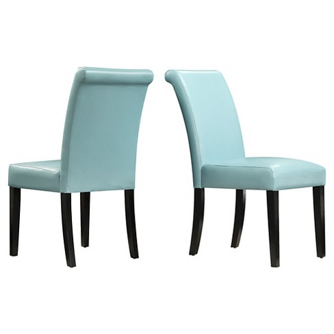 Salido Parson Dining Chair Wood/Sky Blue (Set of 2) - Inspire Q - image 1 of 3