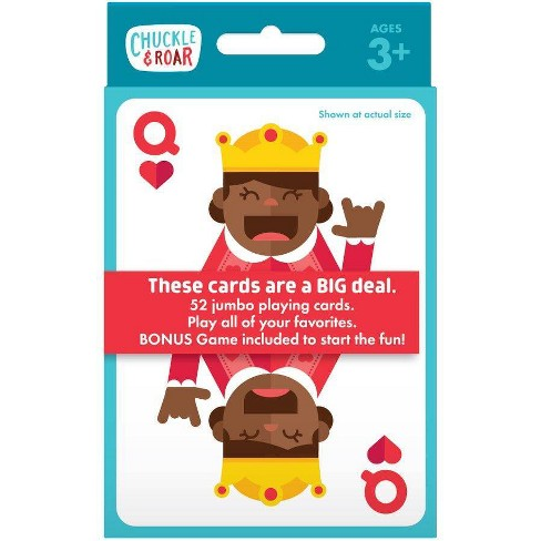 Chuckle & Roar Jumbo Kids Playing Card Game - image 1 of 4