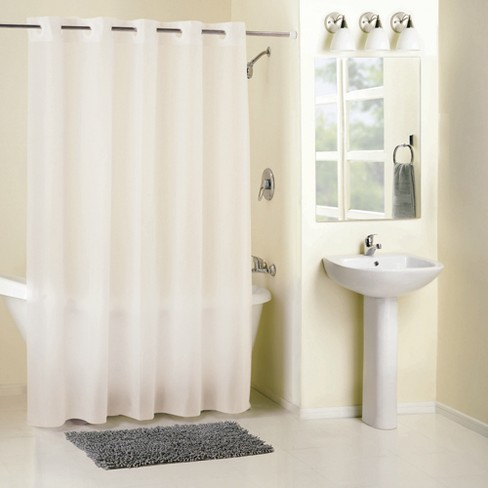 Solid Shower Curtain White