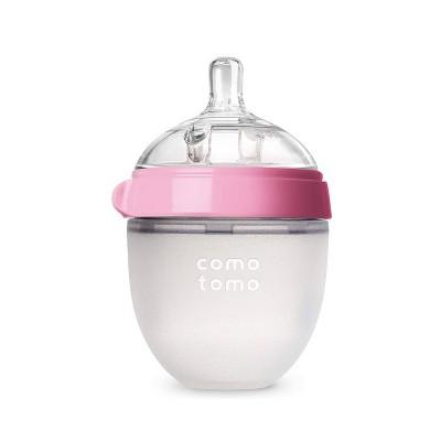 Comotomo Silicone Bottle 5-Oz - Pink