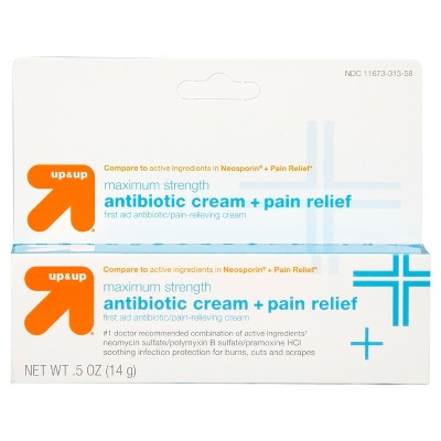 First Aid Antibiotic Pain Relieving Cream  5oz - Up&Up™ (Compare to active  ingredients in Neosporin + Pain Relief)