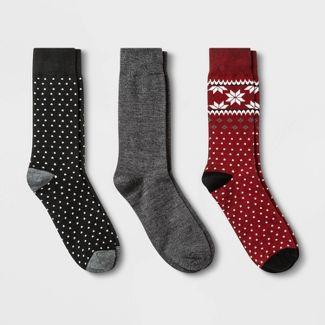 Men's 3pk Crew Socks - Goodfellow & Co™ Red 6-12