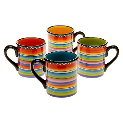 Certified International Tequila Sunrise Mug Set of 4 (18 oz.)