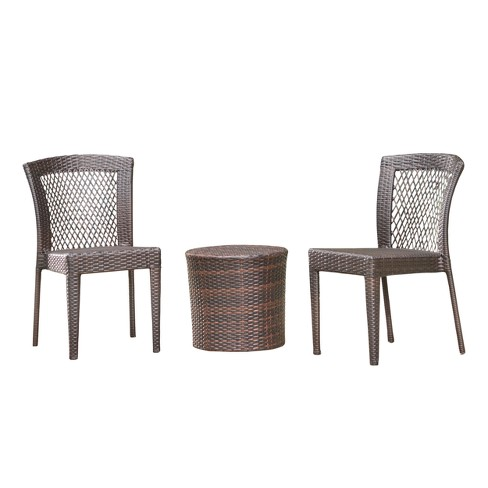 Ashton 3pc Wicker Chat Set - Multibrown - Christopher Knight Home - image 1 of 4