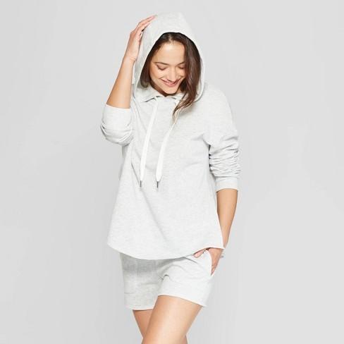 Women's Side Slit Brushed Fleece Hooded Lounge Sweatshirt - Stars Above™ - image 1 of 2