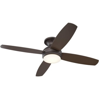"52"" Casa Vieja Modern Hugger Ceiling Fan with Light LED Dimmable Remote Flush Mount Oil Rubbed Bronze for Living Room Bedroom"