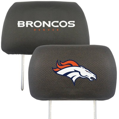 NFL Denver Broncos Embroidered Head Rest Cover Set - 2pc