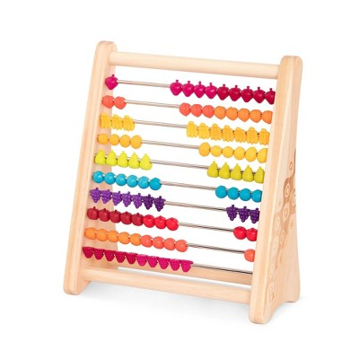 B. toys Wooden Abacus Counting Toy - Two-ty Fruity!