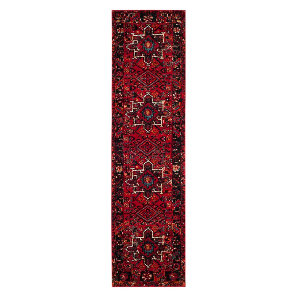 Tribal Design Loomed Runner Red