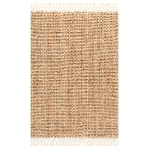 Hand Woven Raleigh White Rug - nuLOOM - image 1 of 3
