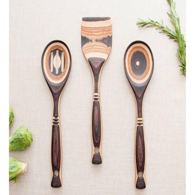 Island Bamboo 4pc Pakka Wood Kitchen Utensil Set Natural