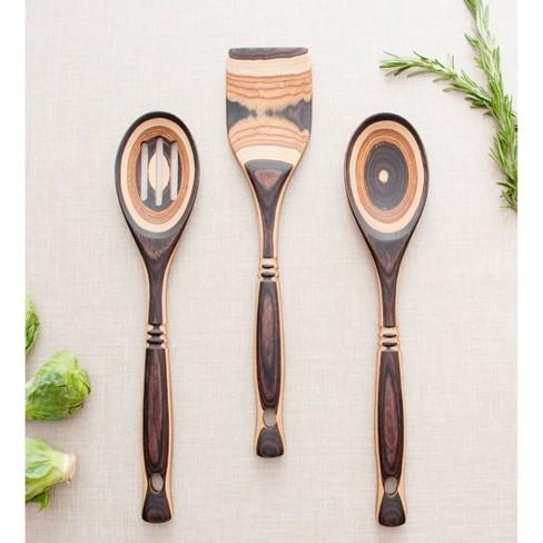 Island Bamboo 4pc Pakka Wood Kitchen Utensil Set Natural Target