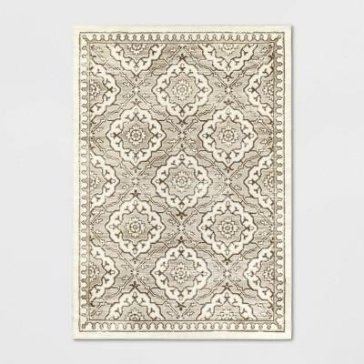 Kenbridge Persian Border Tile Print Mushroom Rug - Threshold™