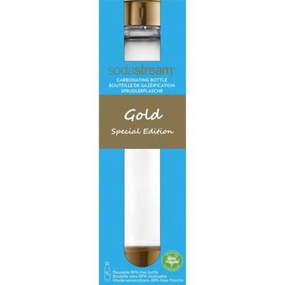 SodaStream 1L Slim Limited Edition Gold Carbonating Bottle